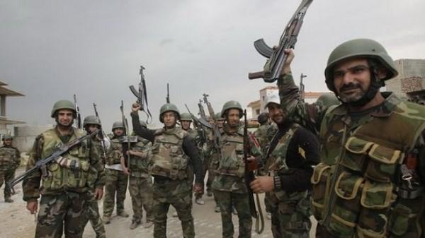 Các binh sĩ quân đội chính phủ Syria