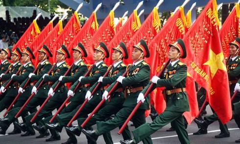 TP HCM diễu binh mừng ngày thống nhất