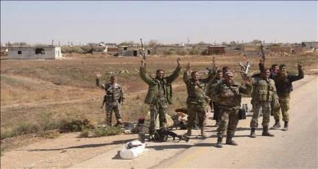 Binh sĩ quân đội Syria.