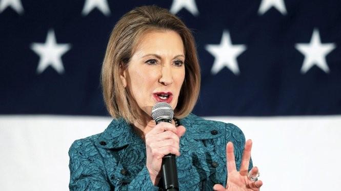 Bà Carly Fiorina, nữ ứng viên tranh cử duy nhất của Đảng Cộng hòa - Ảnh: Reuters