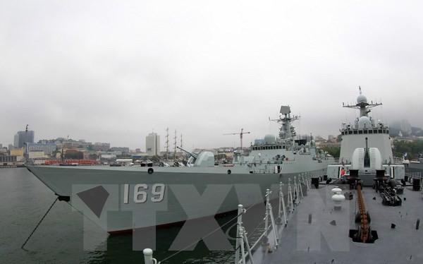 Tàu hải quân của Trung Quốc. (Ảnh minh họa: Kyodo-TTXVN)