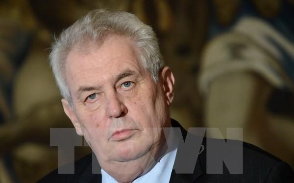ổng thống Cộng hòa Séc Milos Zeman. (Ảnh: AFP/TTXVN)