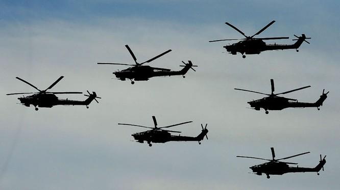 Các trực thăng Mi-28 của Nga. Ảnh: Rianovosti
