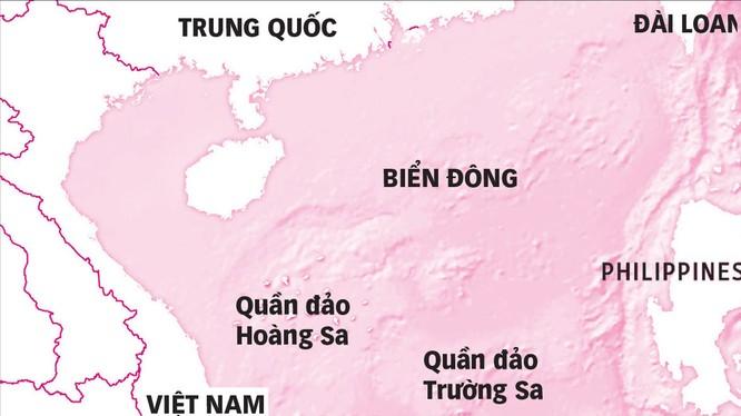 Bản đồ các bãi đá, bãi cạn mà Trung Quốc đang xây dựng, cải tạo trái phép ở quần đảo Trường Sa của Việt Nam