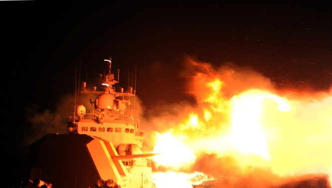 Theo China News, Trung Quốc triển khai cuộc tập trận liên khu vực biển, kéo dài 7 ngày trên Biển Đông.