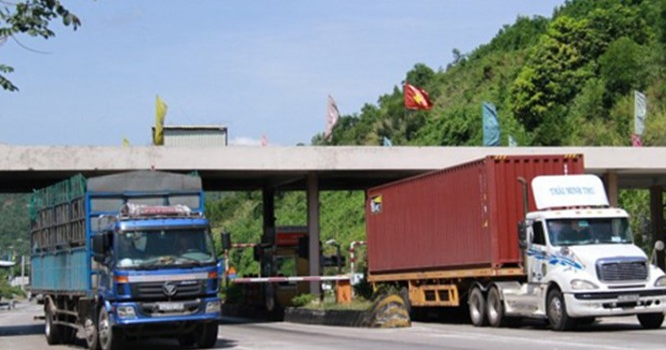 Trạm thu phí Nam hầm Hải Vân.