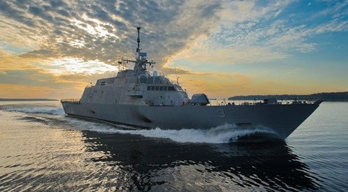 Tàu tác chiến cận bờ USS Fort Worth của Hải quân Mỹ - Ảnh: Hải quân Mỹ