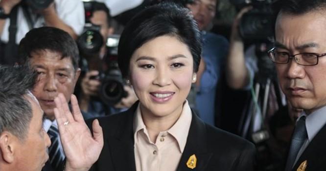 Cựu Thủ tướng Yingluck Shinawatra tại Tòa án Tối cao.