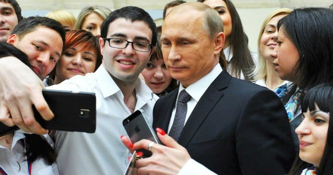 Cùng chụp ảnh với Tổng thống Nga