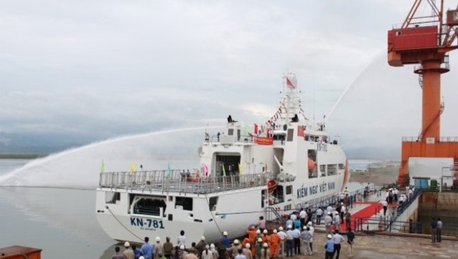 Công ty Đóng tàu Hạ Long bàn giao tàu kiểm ngư hiện đại nhất VN cho lực lượng Kiểm ngư tháng 6/2014