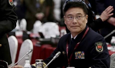 Đô đốc Tôn Kiến Quốc tại Đối thoại Shangri-La. (Ảnh: EPA)