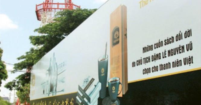 Bảng hiệu của cà phê Trung Nguyên ở Đắk Lắk - Ảnh: Trung Tân
