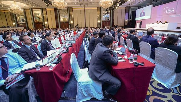 Các đại biểu tham dự Đối thoại Shangri-La lần thứ 14. Ảnh: IISS