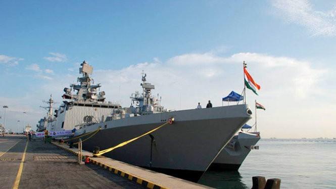 Tàu chiến INS Satpura của Ấn Độ - Ảnh: Indian Navy