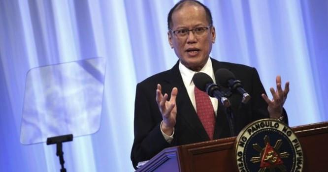 """Tổng thống Philippines Benigno Aquino phát biểu tại phiên họp đặc biệt của Hội nghị quốc tế về """"Tương lai của châu Á"""" tại Tokyo, ngày 3/6/2015. Ảnh AP"""