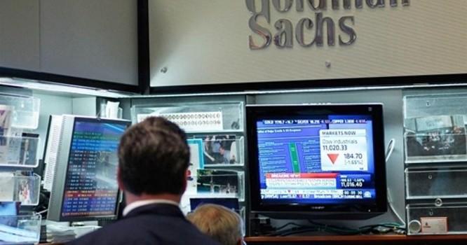Một văn phòng của ngân hàng Hoa Kỳ Goldman Sachs tại thị trường chứng khoán New York. Ảnh AFP/Chris Hondros/Getty Images
