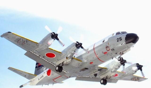 Máy bay P-3C của Lực lượng phòng vệ biển Nhật Bản.