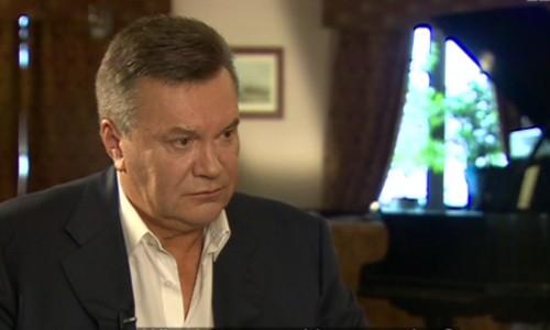 Ông Yanukovych trong cuộc phỏng vấn với BBC Newsnight. Ảnh: BBC