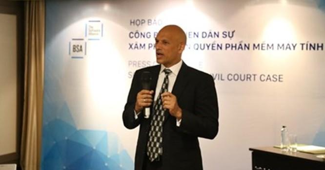 Ông Tarun Sawney, Giám đốc phụ trách chống vi phạm bản quyền khu vực Châu Á- Thái Bình Dương của BSA. Ảnh: Thái Dương.