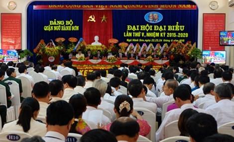 Đại hội nhiệm kỳ 2015-2020 của quận Ngũ Hành Sơn.Ảnh: Cổng thông tin TP Đà Nẵng