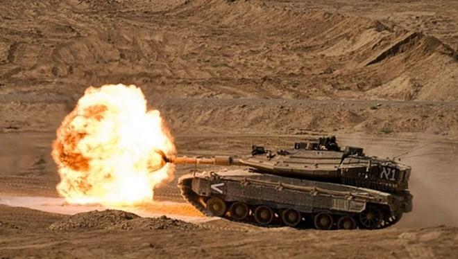 Xe tăng Merkava Israel khai hỏa