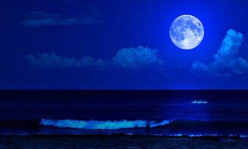 """Thế giới sẽ đón """"trăng xanh"""" hôm nay. Ảnh minh họa: Moms Clean Airforce"""