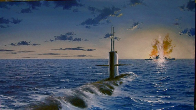 Tàu ngầm dưới con mắt họa sĩ