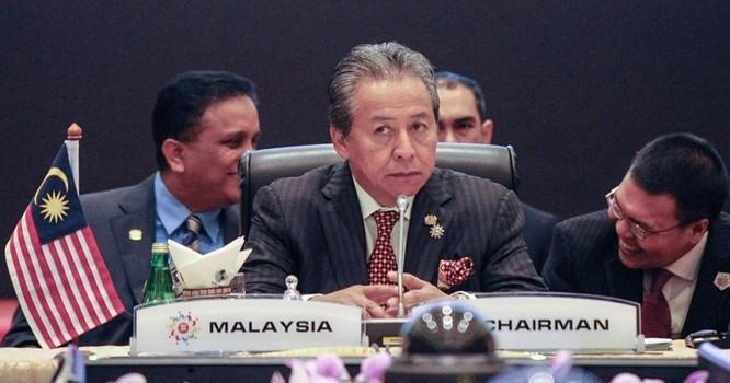 Ngoại trưởng Malaysia, Anifah Aman. Ảnh ngày 04/08/2015 - AFP.