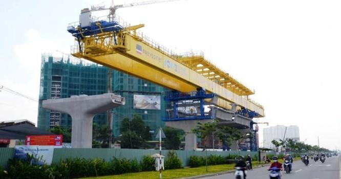 Dự án tuyến đường sắt đô thị số 1 Bến Thành - Suối Tiên đến nay mới giải ngân được 49%.