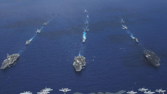 Hạm đội tàu sân bay tác chiến Mỹ luôn sẵn sàng ứng phó với những tình huống bất ngờ tại châu Á-Thái Bình Dương