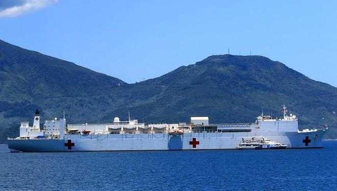 Bên trong tàu bệnh viện gần 1.000 giường của Hải quân Mỹ