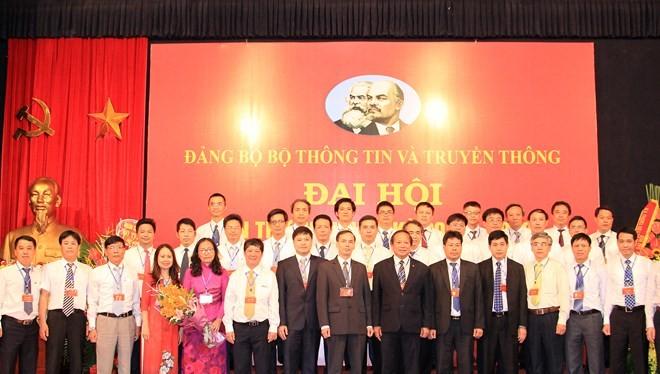 Ban Chấp hành Đảng bộ Bộ TT&TT nhiệm kỳ 2015 - 2020 chính thức ra mắt chiều 20/8. Ảnh: Thái Anh.