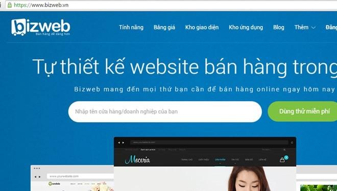 Tất cả khách hàng của Bizweb đều được nâng cấp hệ thống miễn phí. (Ảnh giao diện bizweb.vn)
