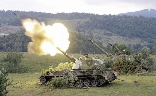 """Lựu pháo tự hành """"Akatsiya"""" 2SM3"""