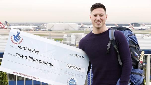 Matt Myles trúng số độc đắc 1 triệu euro