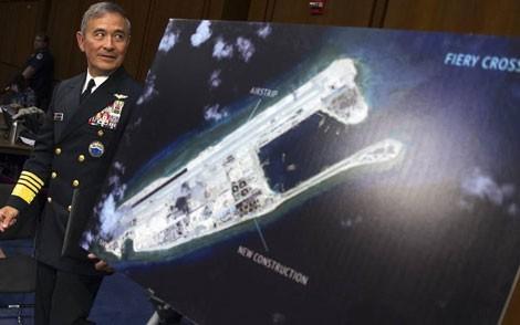 Tư lệnh lực lượng Mỹ ở Thái Bình Dương, Đô đốc Harry Harris thì cho rằng Mỹ nên tăng cường tập trận ở Thái Bình Dương. (ảnh: AP)