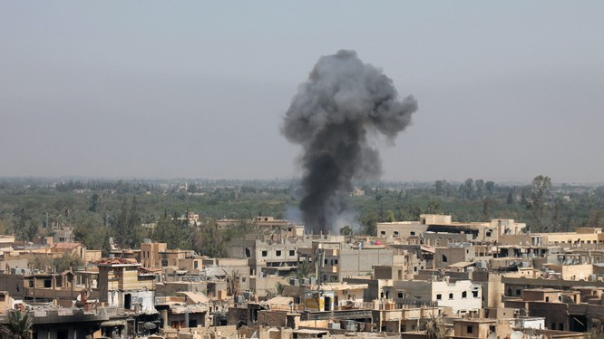 Đòn không kích của không quân Syria