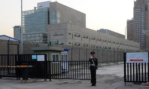 Đại sứ quán Mỹ tại Bắc Kinh. Ảnh: AFP