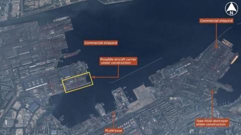 Hình ảnh do tạp chí Jane's cung cấp về khu vực xưởng đóng tàu Đại Liên.