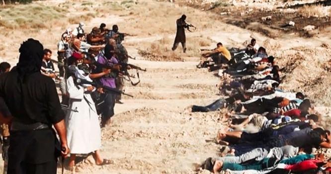 Một vụ hành quyết tập thể của IS