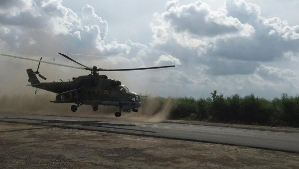 Trực thăng Mi-24 Nga trên căn cứ quân sự ở Syria