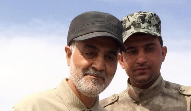 Tướng Qassem Soleimani – chỉ huy cao cấp lực lượng Vệ binh cách mạng Iran trên tuyến đầu trong hoạt động tấn công chống lại các chiến binh Hồi giáo ở thị trấn Tal Ksaiba, tỉnh Salahuddin ngày 08 tháng 3 năm 2015.
