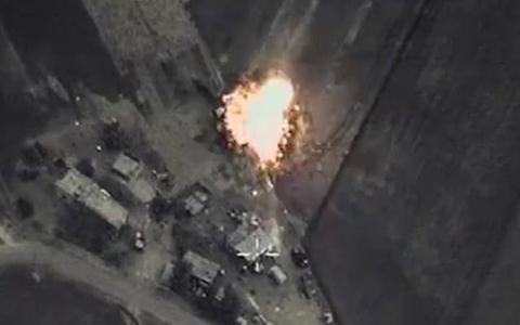 Sơ đồ không kích của Nga đánh IS ở Syria