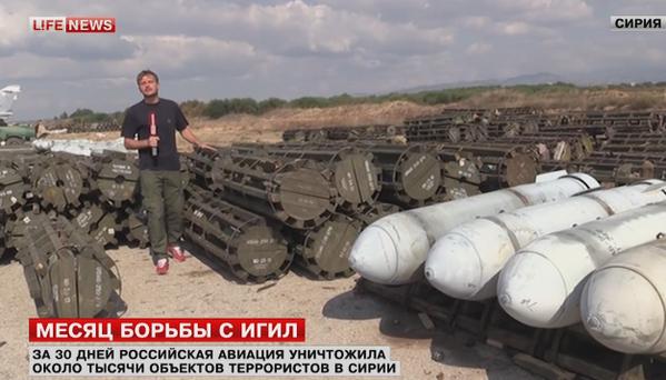 Kho bom của Nga trên sân bay Hmeimim, Syria