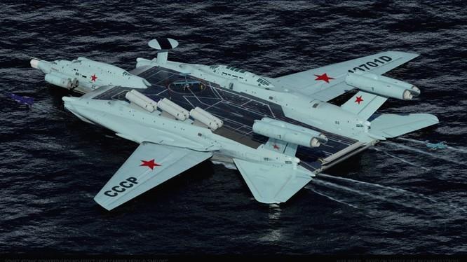 Tàu sân bay tấn công Ekranoplan, siêu phẩm công nghệ quân sự Liên Xô