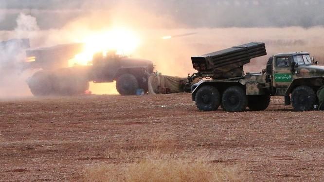 Kết thúc bi thảm của IS sau khi pháo phản lực MLRS Nga tập kích