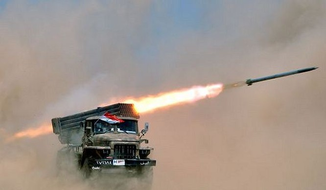 Quân đội Syria dùng tên lửa phá hầm ngầm phiến quân khủng bố
