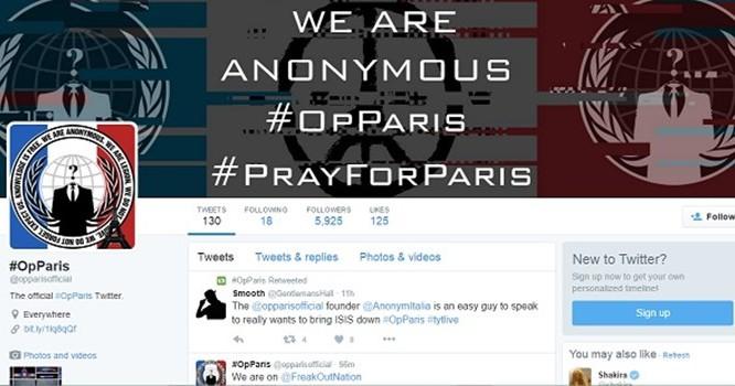 Hơn 5.500 tài khoản IS đã bị Anonymous đánh sập