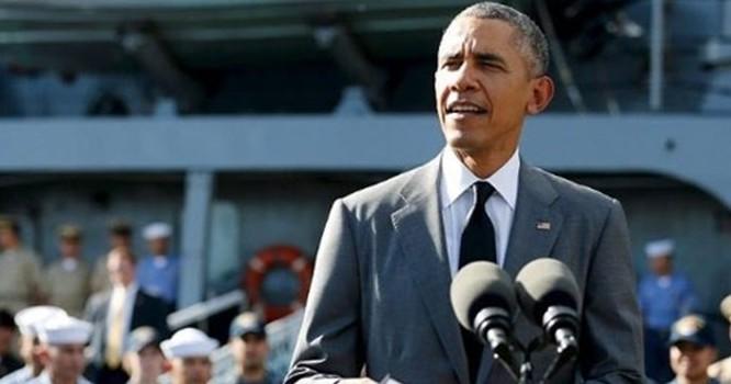Tổng thống Mỹ Barack Obama phát biểu tại cảng Manila của Philippines ngày 17/11.