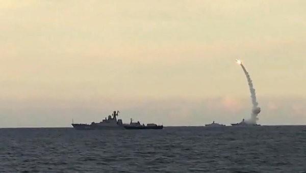 Chùm video tên lửa hành trình Kalibr-NK Nga báo thù IS